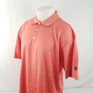 Nike Golf Mens Polo Shirt Sz XL S/S Pink Striped